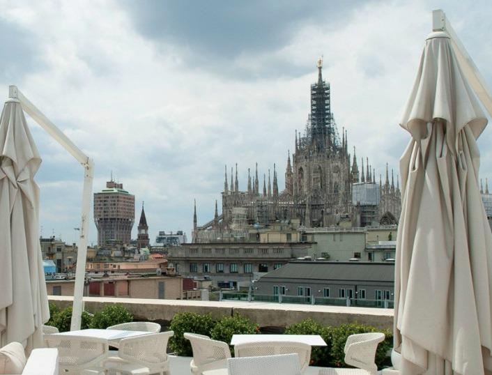 Abz Srl Boscolo Hotel Exedra Milano Veduta Terrazza Duomo Di